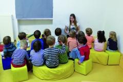Elif mit Kindergruppe